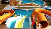 swimming pool with slides